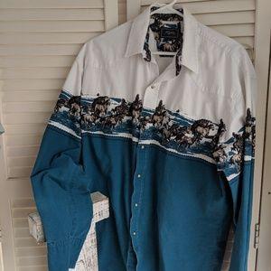 Roper Button Cowboy Western Shirt